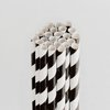 Queen and Company - Perfect Party Collection - Drinking Straws - Stripe - Licorice