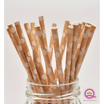 Queen and Company - Stylish Stix - Paper Straws - White Polka Dot