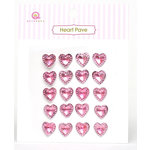 Queen and Company - Heart Pave - Pink