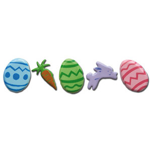 Queen and Company - Shaped Brads - Easter, CLEARANCE