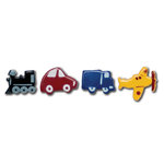 Queen and Company - Kids Collection - Brads - Vehicles, BRAND NEW