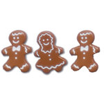 Queen and Company - Christmas Collection - Brads - Gingerbread