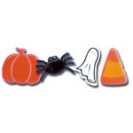 Queen and Company - Shaped Brads - Halloween, CLEARANCE