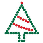 Queen and Company - Bling - Self Adhesive Rhinestones - Christmas Tree