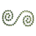 Queen and Company - Bling - Self Adhesive Rhinestones - Scroll - Moss, CLEARANCE