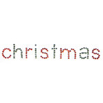 Queen and Company - Christmas Collection - Bling - Self Adhesive Rhinestones - Christmas