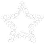 Queen and Company - Bling - Self Adhesive Rhinestones - Star - Clear