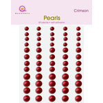 Queen and Company - Bling - Adhesive Pearls - Crimson
