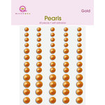 Queen and Company - Bling - Adhesive Pearls - Gold