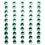 Queen and Company - Bling - Self Adhesive Rhinestone Duos - Greens
