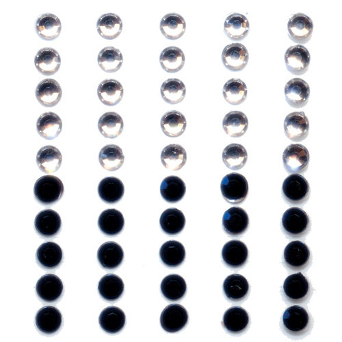 Queen and Company - Formal Collection - Bling - Self Adhesive Rhinestone Duos - Black