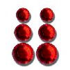 Queen and Company - Jewels - Adhesive Rhinestones - Red