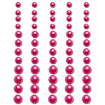 Queen and Company - Bling - Adhesive Pearls - Rose, CLEARANCE