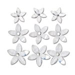 Queen and Company - Self Adhesive Twinkle Blooms - White