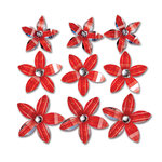 Queen and Company - Self Adhesive Twinkle Blooms - Red