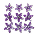 Queen and Company - Self Adhesive Twinkle Blooms - Purple