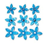 Queen and Company - Self Adhesive Twinkle Blooms - Blue