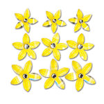 Queen and Company - Self Adhesive Twinkle Blooms - Yellow