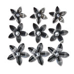 Queen and Company - Self Adhesive Twinkle Blooms - Black