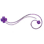 Queen and Company - Bling - Twinkle Motifs - Self Adhesive Rhinestones - Purple
