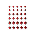 Queen and Company - Bling - Self Adhesive Rhinestones - Princess Cut - Red