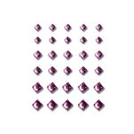 Queen and Company - Bling - Self Adhesive Rhinestones - Princess Cut - Purple