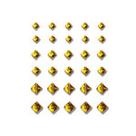 Queen and Company - Bling - Self Adhesive Rhinestones - Princess Cut - Yellow