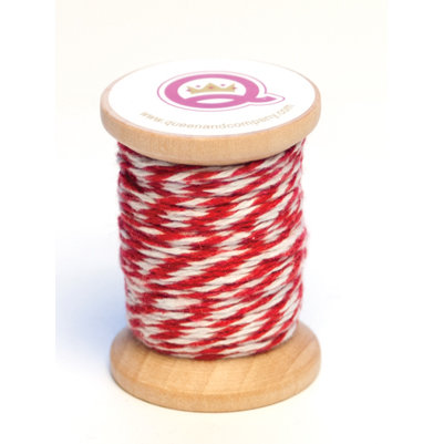 Queen and Company - Twine Spool - Red and White