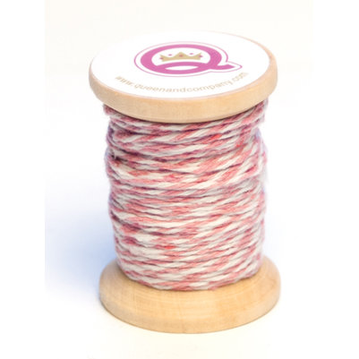 Queen and Company - Twine Spool - Pink and White