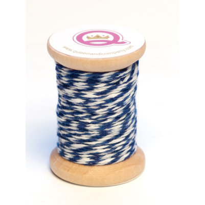 Queen and Company - Twine Spool - Blue and White