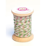Queen and Company - Kids Collection - Twine Spool - Girl - Pink Green and White