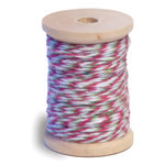 Queen and Company - Twine Spool - Hot Pink White and Green