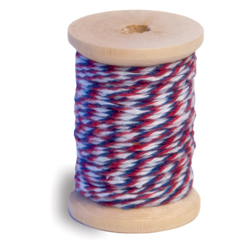 Queen and Company - Twine Spool - Red White and Blue