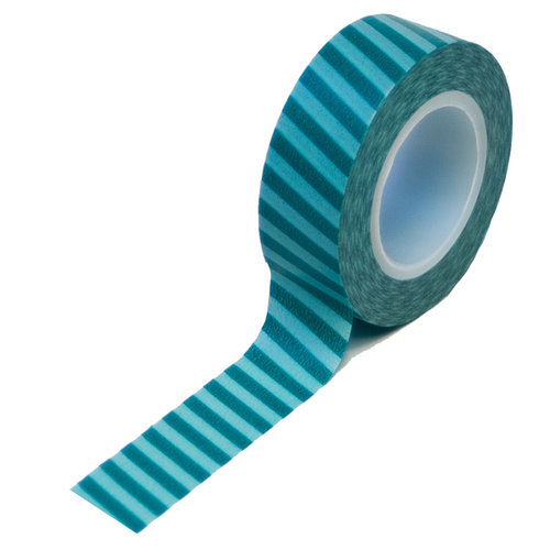 Queen and Company - Trendy Tape - Vertical Stripes Teal