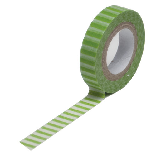 Queen and Company - Trendy Tape - Skinny Mini - Green Stripe