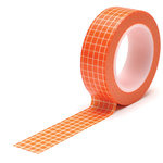 Queen and Company - Trendy Tape - Grid Orange