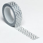 Queen and Company - Trendy Tape - Small Chevron Silver