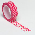 Queen and Company - Trendy Tape - Small Chevron Pink