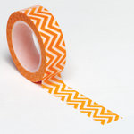 Queen and Company - Trendy Tape - Small Chevron Orange