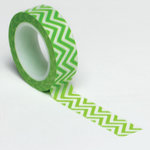 Queen and Company - Trendy Tape - Small Chevron Green