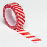 Queen and Company - Trendy Tape - Diagonal Stripe Red