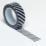Queen and Company - Trendy Tape - Diagonal Stripe Black