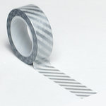 Queen and Company - Trendy Tape - Diagonal Stripe Silver