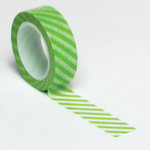 Queen and Company - Trendy Tape - Diagonal Stripe Green