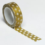 Queen and Company - Trendy Tape - Polka Dot Gold