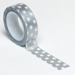 Queen and Company - Trendy Tape - Polka Dot Silver