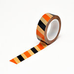 Queen and Company - Trendy Tape - Kraft - Halloween Stripe