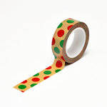 Queen and Company - Trendy Tape - Kraft - Christmas Polka Dots