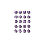 Queen and Company - Bling - Self Adhesive Rhinestones - Goosebumps - Purple