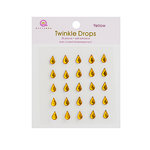 Queen and Company - Candy Shoppe Collection - Self Adhesive Twinkle Drops - Yellow